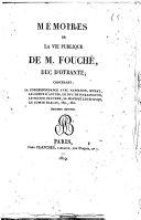 Fouché, Mémoires complets et authentiques