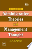 Administrative Theories And Management Thought 2Nd Ed