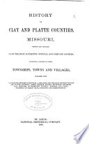 History Of Clay And Platte Counties Missouri