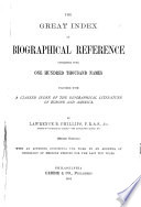 The Great Index of Biographical Reference