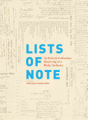 Lists Of Note : of names that are as eclectic and...