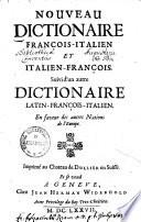 Nouveau dictionaire françois-italien et italien-françois0