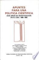 Apuntes para una política científica