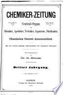 Chemiker Zeitung Chemische Apparatur