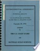 Potential Impacts of U S  Coast Guard Activities Along the U S  Atlantic Coast  EA