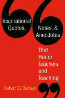 download ebook inspirational quotes, notes, & anecdotes that honor teachers and teaching pdf epub