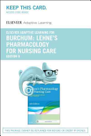 Elsevier Adaptive Learning for Pharmacology for Nursing Care Access Card