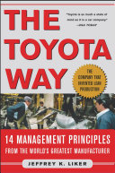 the toyota way 14 management principles from the world s greatest manufacturer