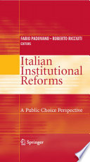 Italian Institutional Reforms  A Public Choice Perspective
