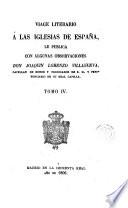 Viage [sic] literario a las iglesias de España, 4