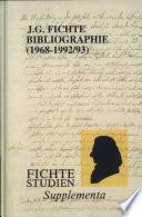 J.G. Fichte-Bibliographie, 1968-1992/93