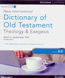 New International Dictionary of Old Testament Theology and Exegesis 6  0 for Windows
