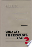 What are Freedoms For? Pdf/ePub eBook