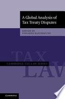 A Global Analysis of Tax Treaty Disputes