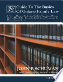 The Devry Smith Frank Guide To The Basics Of Ontario Family Law 3rd Edition
