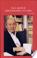 Paul Ricœur, Primary and Secondary Bibliography 1935-2000