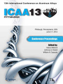 13th International Conference on Aluminum Alloys  ICAA 13