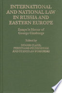 International and National Law in Russia and Eastern Europe