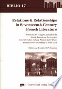 illustration du livre Relations & Relationships in Seventeenth-century French Literature