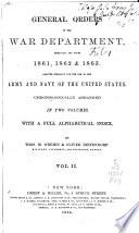 General Orders of the War Department