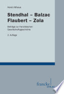 Stendhal-Balzac-Flaubert-Zola
