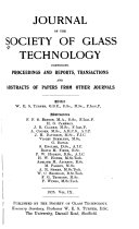 Journal of the Society of Glass Technology