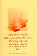 African Voices On Development And Social Justice book