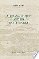 Alejo Carpentier and His Early Works