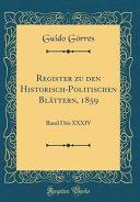 Register zu den Historisch-Politischen Blättern, 1859