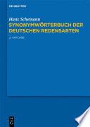 Synonymwörterbuch der deutschen Redensarten