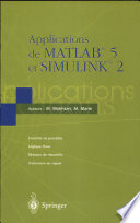 illustration Applications de MATLAB 5 et SIMULINK 2