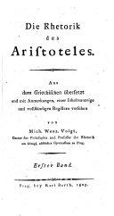 Die Rhetorik des Aristoteles