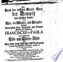 Franc de Paula der zum höchsten Gipfel der Heiligkeit erhoben