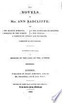 The Novels of Mrs  Ann Radcliffe