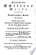 Dem Andenken Friedrich von Schillers