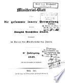 Ministerial-Blatt für die gessamte innere Verwaltung in den königlich Preussischen Staaten