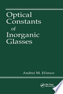 Optical Constants of Inorganic Glasses