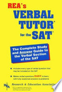 Verbal Tutor for the SAT