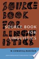 Source Book for Linguistics