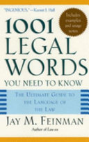One Thousand and One Legal Words You Need to Know