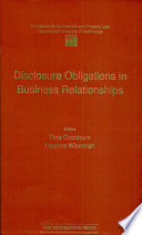 Disclosure Obligations In Business Relationships