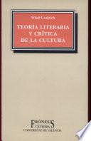 Teoría literaria y crítica de la cultura