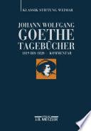 Johann Wolfgang Goethe Tagebücher