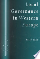 Ebook Local Governance in Western Europe Epub Peter John Apps Read Mobile