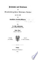 Publicationen aus den k. preussischen Staatsarchiven
