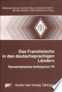 Das Franz  sische in den deutschsprachigen L  ndern
