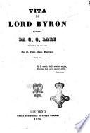Vita di lord Byron
