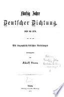 F  nfzig Jahre deutscher Dichtung