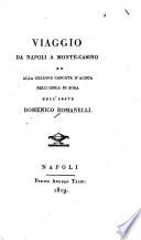Viaggio da Napoli a Monte-Casino ed alla celebre Cascata d'acqua nell'isola di Sora