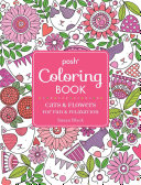 Posh Adult Coloring Book  Cats and Flowers for Fun and Relaxation